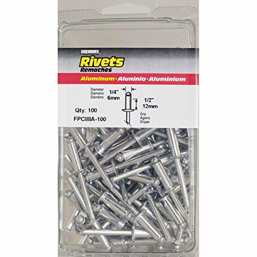 Surebonder FPC88A-100 1/4-inch Aluminum Long Rivets (100 per box) ()