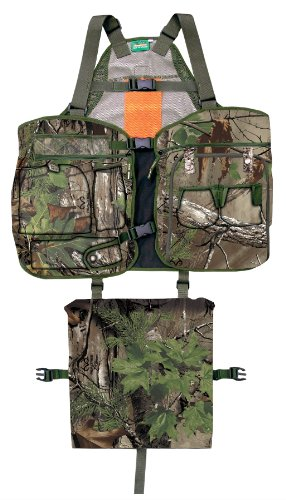 Primos Strap Turkey Vest, X-Large/XX-Large, Realtree Xtra Green Camo