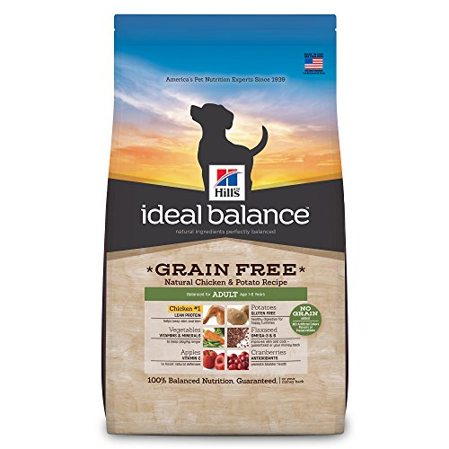 Hill's Ideal Balance Adult Grain Free Natural Chicken & Potato Recipe Dry Dog Food, 21-Pound Bag