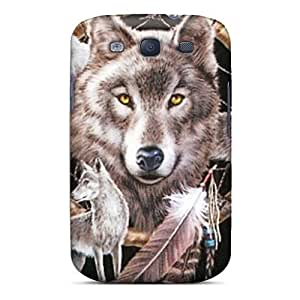 Protection Case For Galaxy S3 / Case Cover For Galaxy(dreamcatcher Wolf)