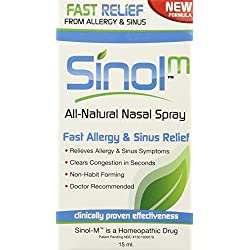 Sinol Sinol-M Homeopathic Allergy and Sinus Relief, 0.50721 Ounce