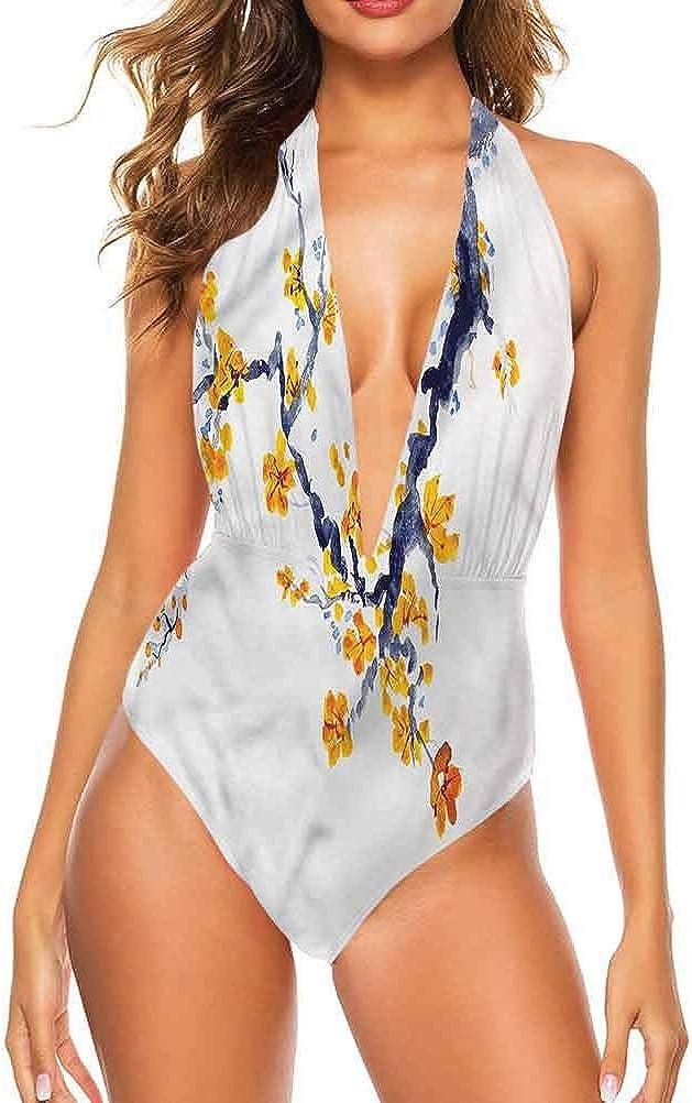 Ensemble de bikini pour femme avec motif floral effet de peinture très flatteur Multi 13.