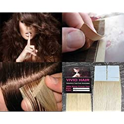 "20 Pcs X 18"" inches Remy Seamless Tape In Skin weft Human Hair Extensions Color #11 Lightest Blonde"