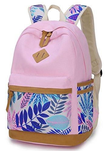 Goldwheat Cute Girls School Bag Backpack Canvas Lightweight Rucksack Casual Bookbags Shoulder Daypack Purse for Women - Girls Cute With