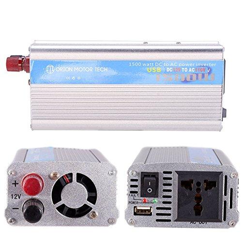 Orion Motor Tech 1500W Auto Power Inverter 12V DC to 110V AC Converter