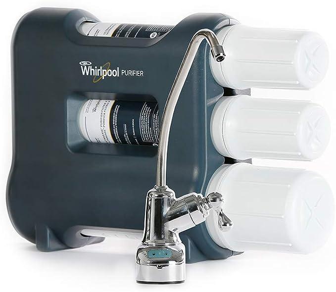 Whirlpool UltraEase purificador de agua debajo del fregadero Sistema de filtración en fregadero completo sistema de purificación: Amazon.es: Iluminación