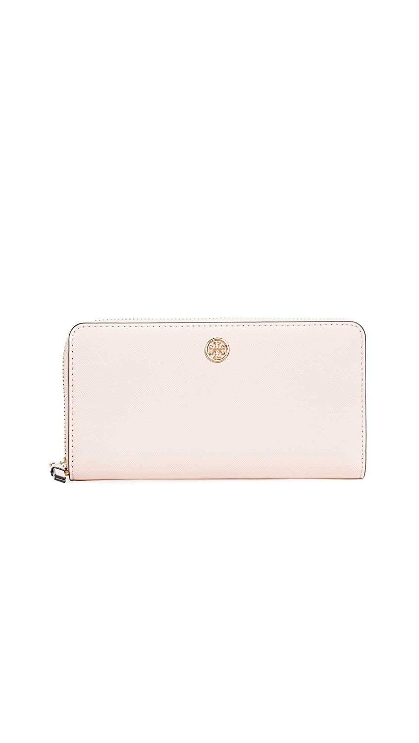 15ae945c1c5 Amazon.com: Tory Burch Women's Robinson Zip Continental Wallet, Pale  Apricot/Royal Navy, Pink, One Size: Shoes