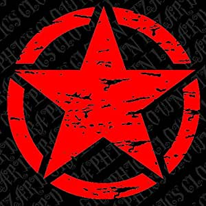 "Amazon.com: 22"" Freedom Star Distressed Military Decal"