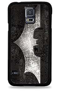 518 Batman Dark Knight Bat Signal Samsung Galaxy S5 Hardshell Case - Black