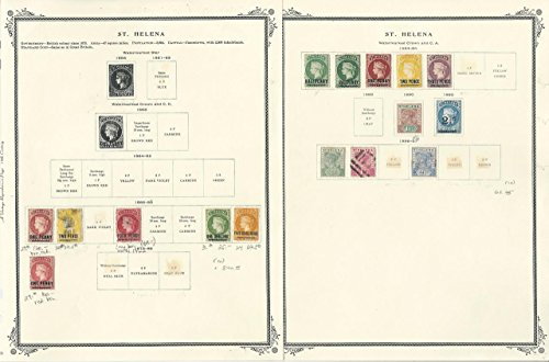 (St Helena Collection 1856 to 1940 on 9 Scott Specialty Pages, Classic Stamps)