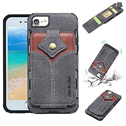 7624ccd0ad Gmshezmh- for iPhone 6 Plus/iPhone 6s Plus Leather Case, Fabric Leather Back