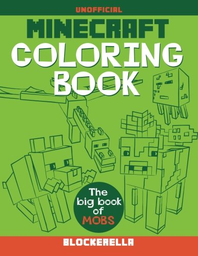 Minecraft Coloring Book: The Big Book of Mobs cover