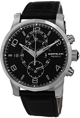 Montblanc Timewalker Chronograph Black Dial Mens Watch 105077