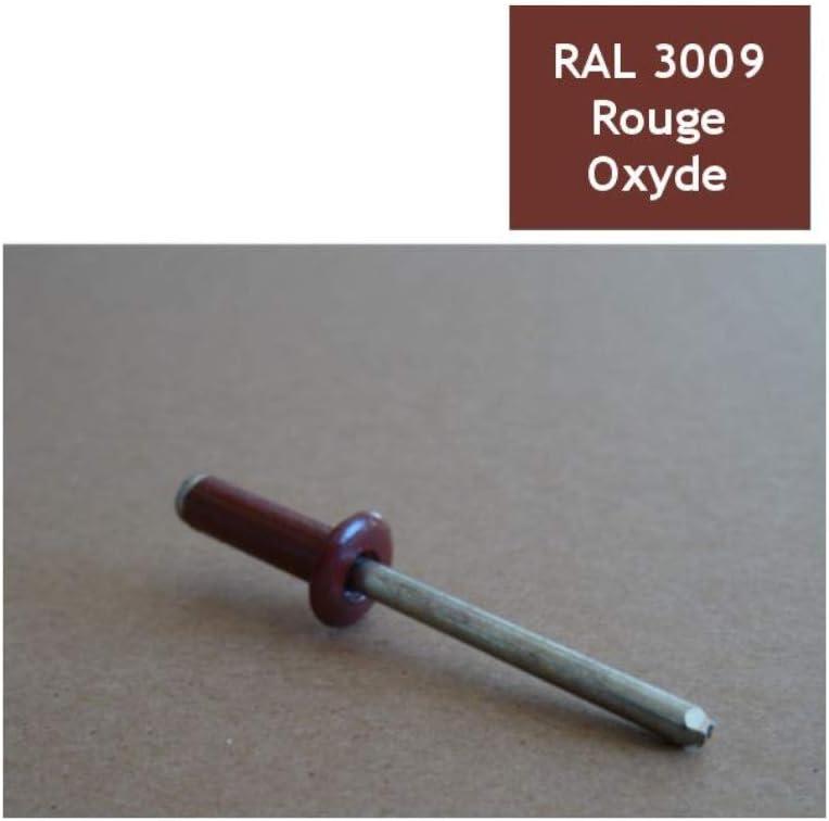 Nieten 4,8x16 mm RAL 3009 Oxid 100 St/ück