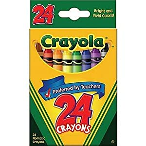 Crayola Crayons 24 Colors, (Pack of 6)