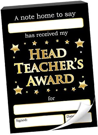 60 Head Teachers Award Stars Childrens Pupils Teachers School Certificates Notes Home Praisepad A6 Primary Teaching Services