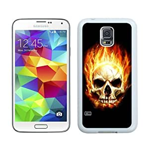 Case For Galaxy S5,call of duty skull White Samsung Galaxy S5 i9600 Case