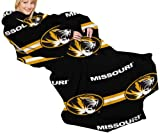 The Northwest Company NCAA Missouri Tigers Comfy Throw Blanket with Sleeves, Stripes Design