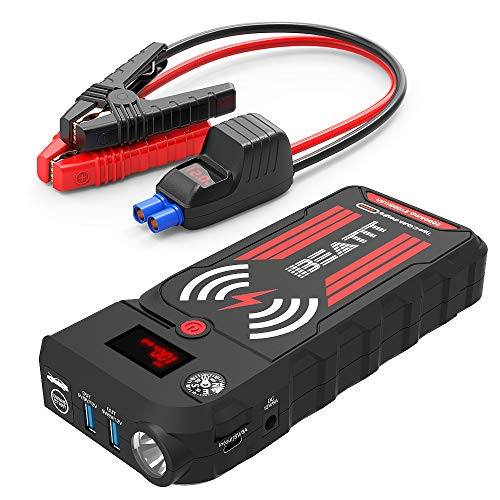 (Beatit BT-G18 2000A Peak 21000mAh 12V Portable Car Jump Starter (up to 8.0L Gas and 8.0L Diesel) Auto Battery Booster With Smart Jumper Cables Wireless Charger)