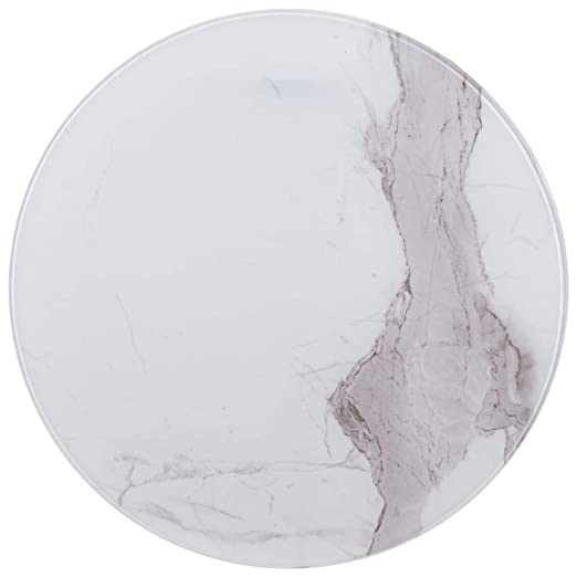 Tidyard Tablero para Mesa Vidrio con Textura de mármol Blanco ...