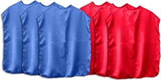 product image for Superhero Capes Children Set of 12 (6 Blue, 6 Red)