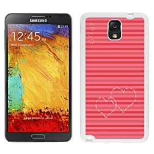 NEW Custom Designed For SamSung Note 2 Case Cover Phone With Heart Lines Valentines_White Phone