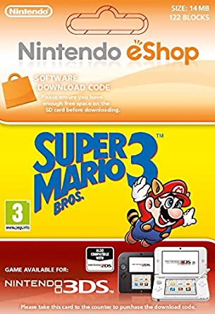 Super mario bros 3 nes [3ds download code]: amazon. Co. Uk: pc.