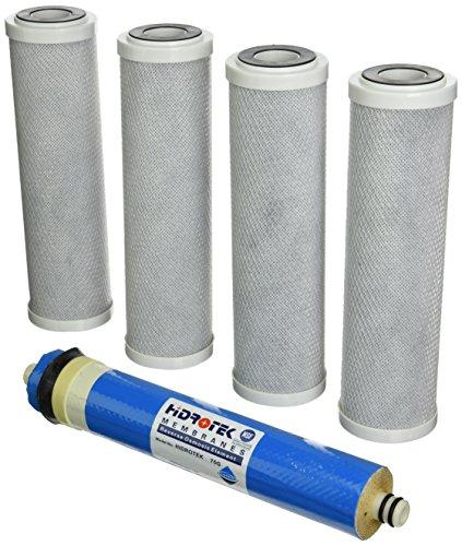 Purenex 4C-75M Purenex Block Activated Carbon Filters/Membrane Replacement Cartridges with 75 GPD Membrane, 5-Token