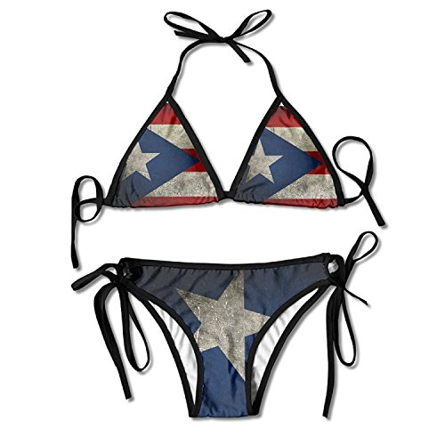 Puerto Rico Flag Women's Fashion Sexy Swimwear One (Top Hat Puerto Rico)