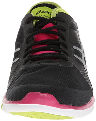 Asics Womens Gel Fit Nova Scarpa Cross-training Nero / Argento / Rosa Caldo