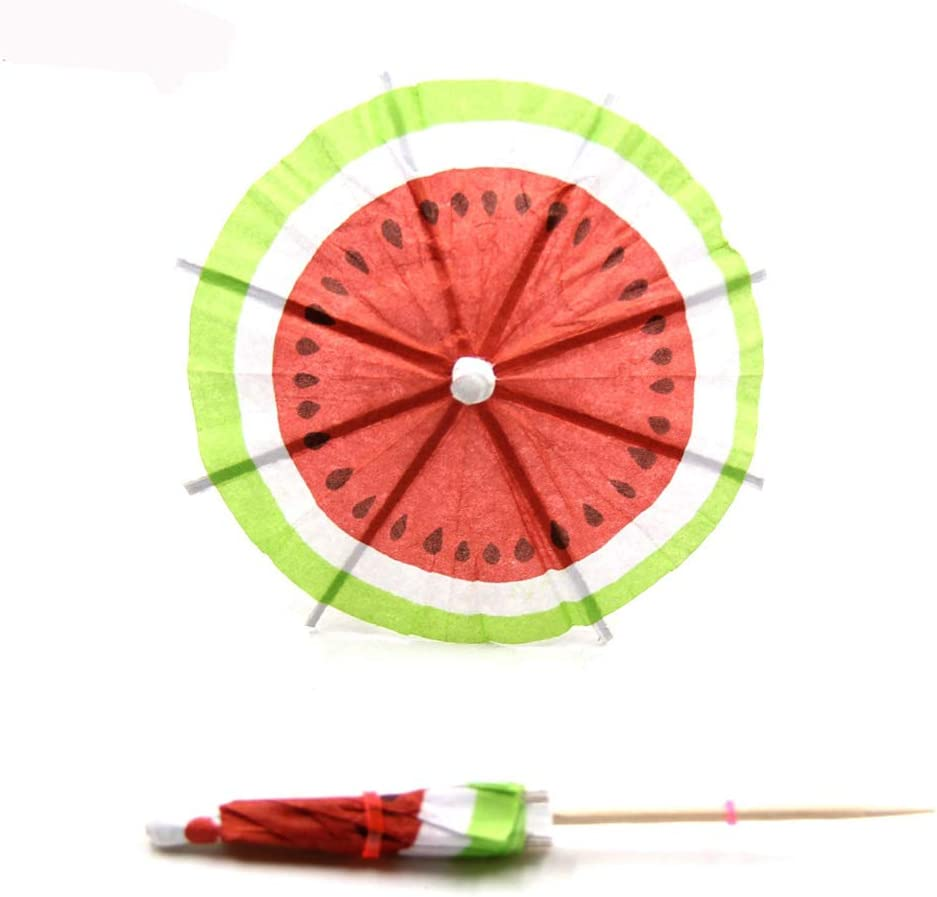 BESTONZON 50pcs Cocktail Watermelon Umbrella Decor Creativo Frutta Decor Rame per Bar Store Hotel