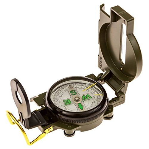 UPC 763598411688, HTE Survival Compass: Multipurpose Marching Lensatic Compass for Outdoor, Camping and Hiking (Green)