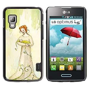 Be Good Phone Accessory // Dura Cáscara cubierta Protectora Caso Carcasa Funda de Protección para LG Optimus L5 II Dual E455 E460 // happiness with baby