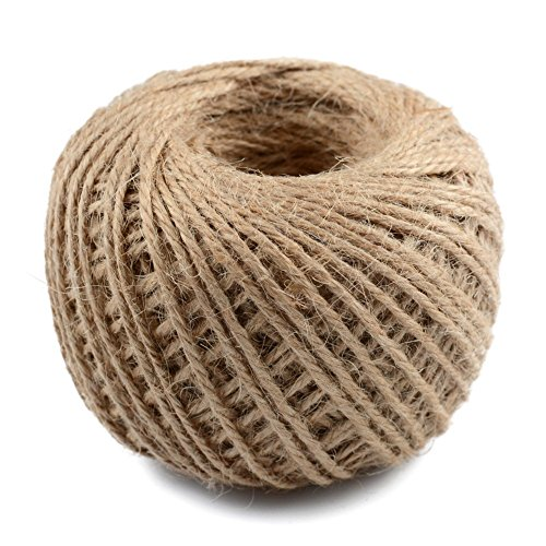 JmYo 164ft Jute String, 3mm Natural String Twine Rope is Gift Wrap for Arts Crafts, Tags, Gift, Wedding, Decoration, Christmas, (Eco Friendly Invitations)