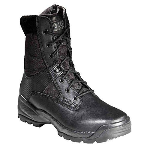 Tactcl Boots, Pln, Mens, 8-1/2W, Black, 1Pr