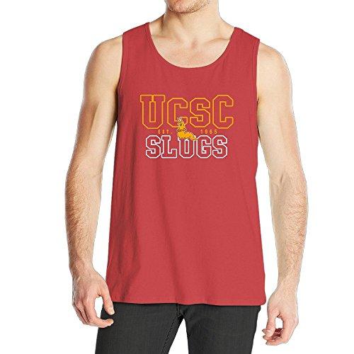 Men's Uc Santa Cruz Banana Slugs UCSC Teams Logo Tank Top (Cruz Boys Swimsuit)