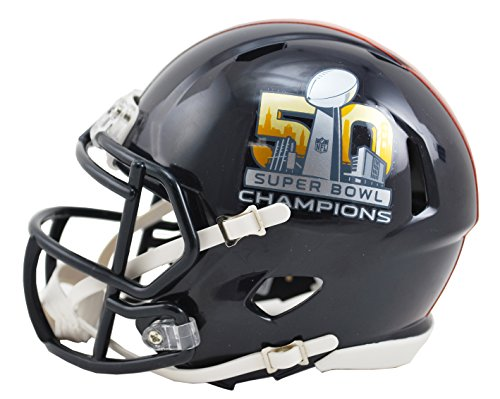 Riddell Mini Champs Helmet (Denver Broncos Helmet Riddell Replica Mini Speed Style Super Bowl 50 Champs)