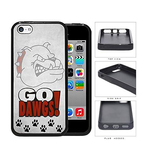 Go Dawgs School Spirit Slogan Chant iPhone 5c Rubber Silicone TPU Cell Phone Case (Georgia Blues Dawgs)