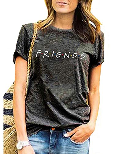 AEURPLT Womens Funny Cute Graphic Summer Casual Vintage T Shirt Tops Tees Gifts ()