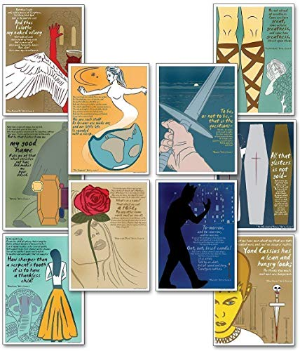 Quotable Shakespeare Poster Set. Discount Classroom Bundle Featuring Macbeth, Hamlet, Romeo and Juliet, and more
