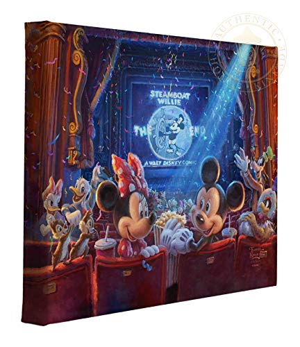 Thomas Kinkade Studios Disney 90 Years of Mickey 11 x 14 Gallery Wrapped Canvas