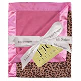 Sweet Jojo Designs Pink & Cheetah Print Minky and Satin Baby Blanket