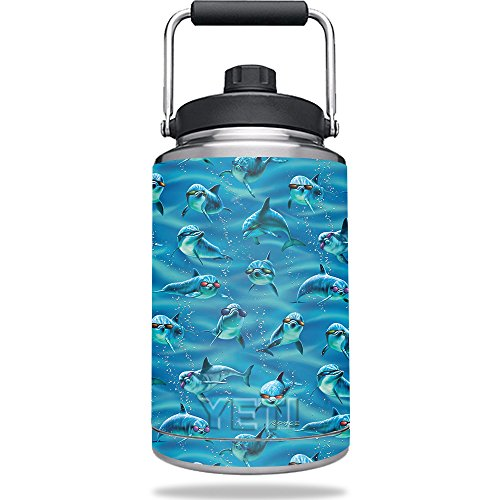 Skin For Yeti Rambler One Gallon Jug – Dolphin Gang | MightySkins Protective, Durable, and Unique Vinyl Decal wrap cover | Easy To Apply, Remove, and Change Styles | Made - Sunglasses Rambler
