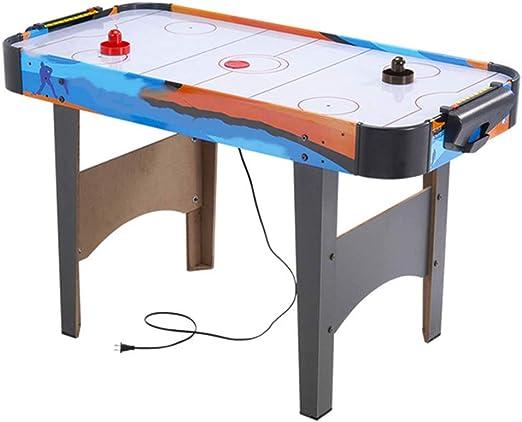 WXH Mesa eléctrica de Hockey con Aire, Sala de Juegos de Deportes de Interior, Mesa de Juegos de Entretenimiento con Hockey de Diapositivas, Juego de Juegos Deportivos de futbolín, para niños Adultos: