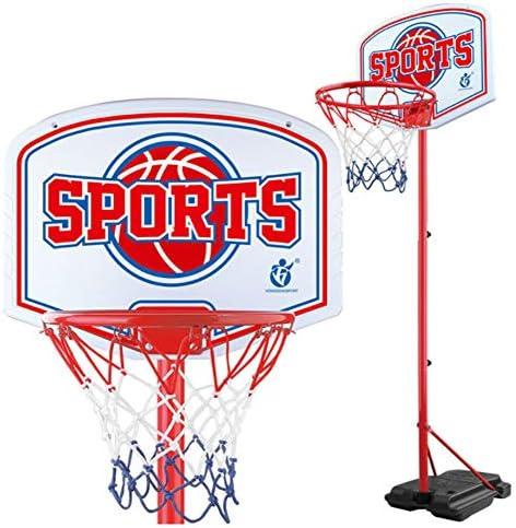 高さ調節可能なバスケットボールのフープポータブルアウトドアキッズバスケットボールボードブラケットシステムセットバスケットボールは、調節可能なスタンド160〜215センチメートル