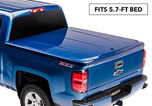 UnderCover LUX Painted One-Piece Truck Bed Tonneau Cover, Black | UC1136L-41 | fits 2014-2018 GMC Sierra  & 2019 Limited  5.7ft Short Bed Crew 41(GBA)(WA8555) - Black(2014 1500 Only, 2015-2019 1500,2500,3500)