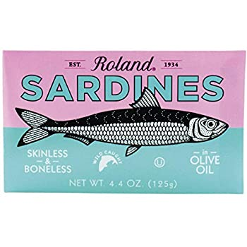 Roland Sardines in Olive Oil, Skinless & Boneless