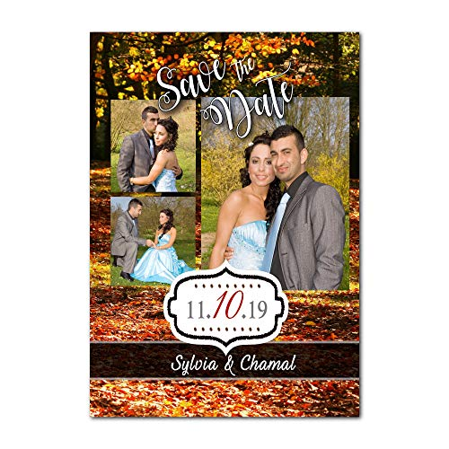 (Set of 20 fall save the date autumn wedding)