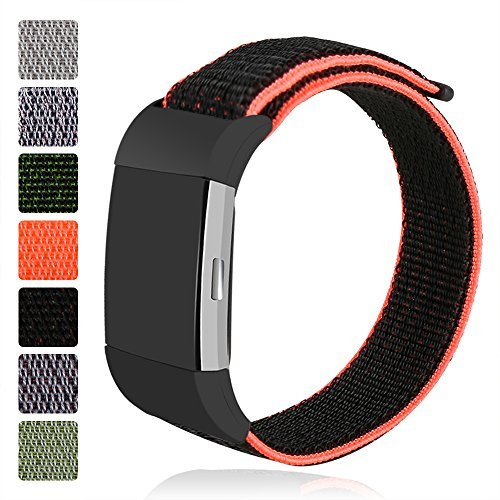 iMoway Nylon Band, Sport Replacement Bracelet Straps Loop Band with Compatible for Fitbit Charge 2 Smart Watch