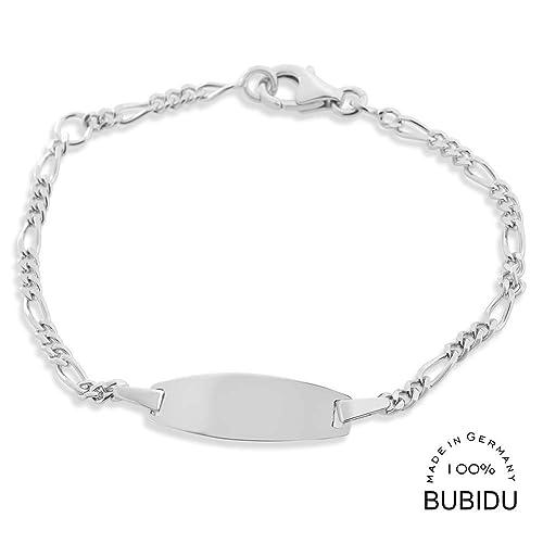 bester Service 2019 professionell klassische Passform ID Kinderarmband mit Gravur Taufe 925 Silber Armband ...